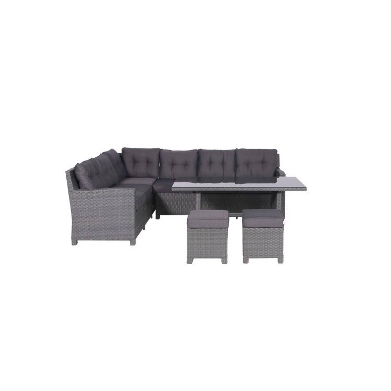 Wicker Garden Impressions - Aboyne loungedining set - 5 delig - wicker - earl grey