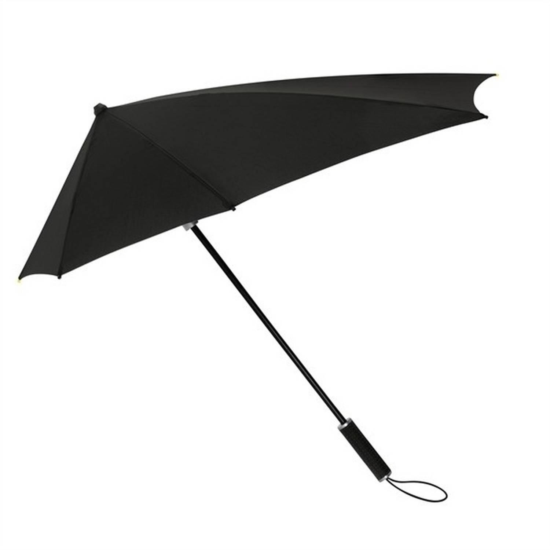 Korting STORMaxi storm paraplu zwart windproof 100 cm