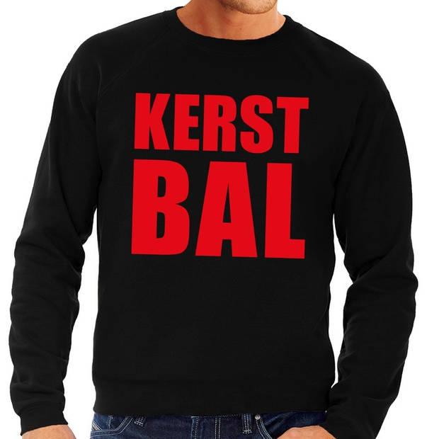 Foute kersttrui / sweater Kerst Bal zwart voor heren - Kersttruien L (52)