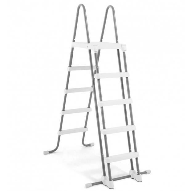 Intex opzetzwembad met pomp en ladder Prism Frame 400 x 200 x 100 cm grijs