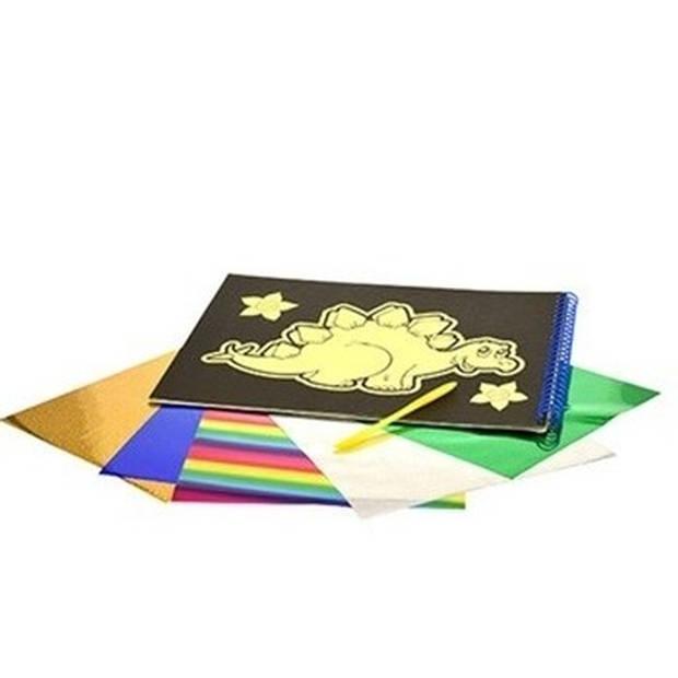 Krasfolie krasset met stickers met dodo op de voorzijde