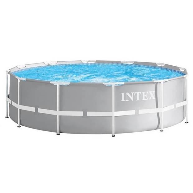 Intex opzetzwembad Prism Frame Ø305 x 76 cm grijs