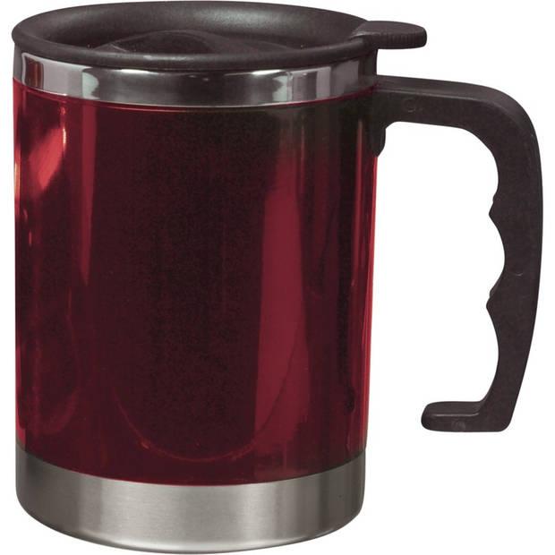 Dubbelwandige thermosbeker 400 ml rood - vacuum thermosbeker