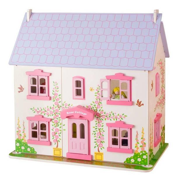 BigJigs houten poppenhuis Rose Cottage