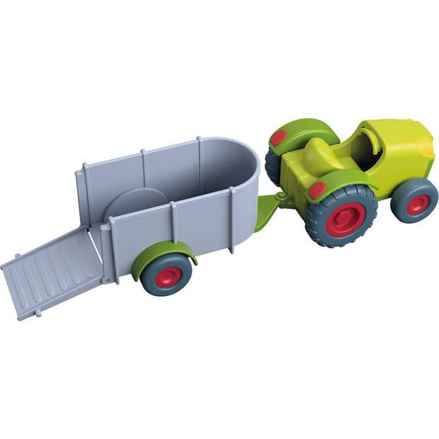 HABA Little Friends - Trekker met aanhangwagen