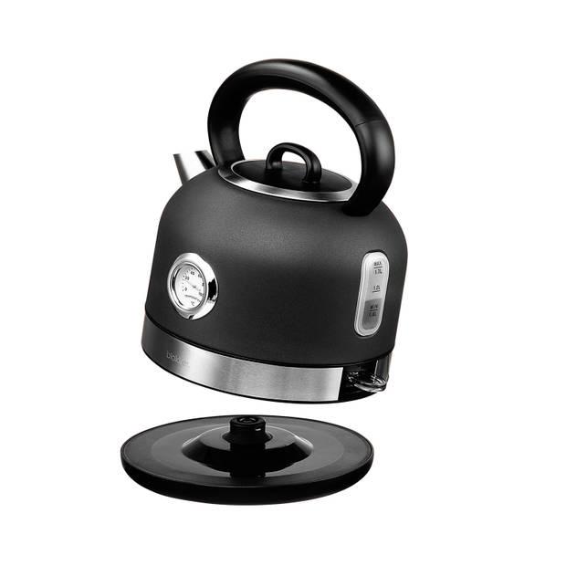 Blokker waterkoker BL-10109 - mat antraciet - 1,7 liter