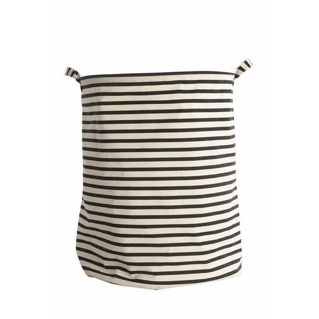 House Doctor - Laundry bag, Stripes, black, dia 40cm h50cm