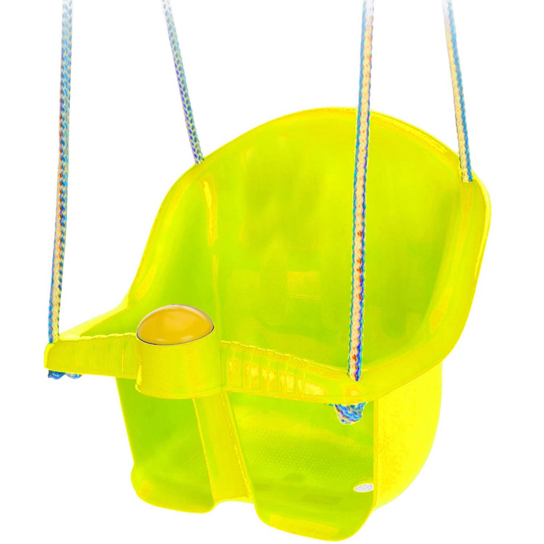 Tender Toys babyschommelzitje met touw 30 cm geel