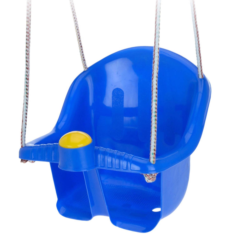 Tender Toys babyschommelzitje met touw 30 cm blauw