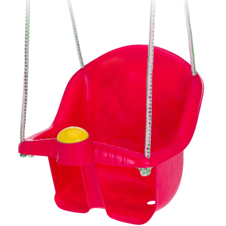 Tender Toys babyschommelzitje met touw 30 cm rood