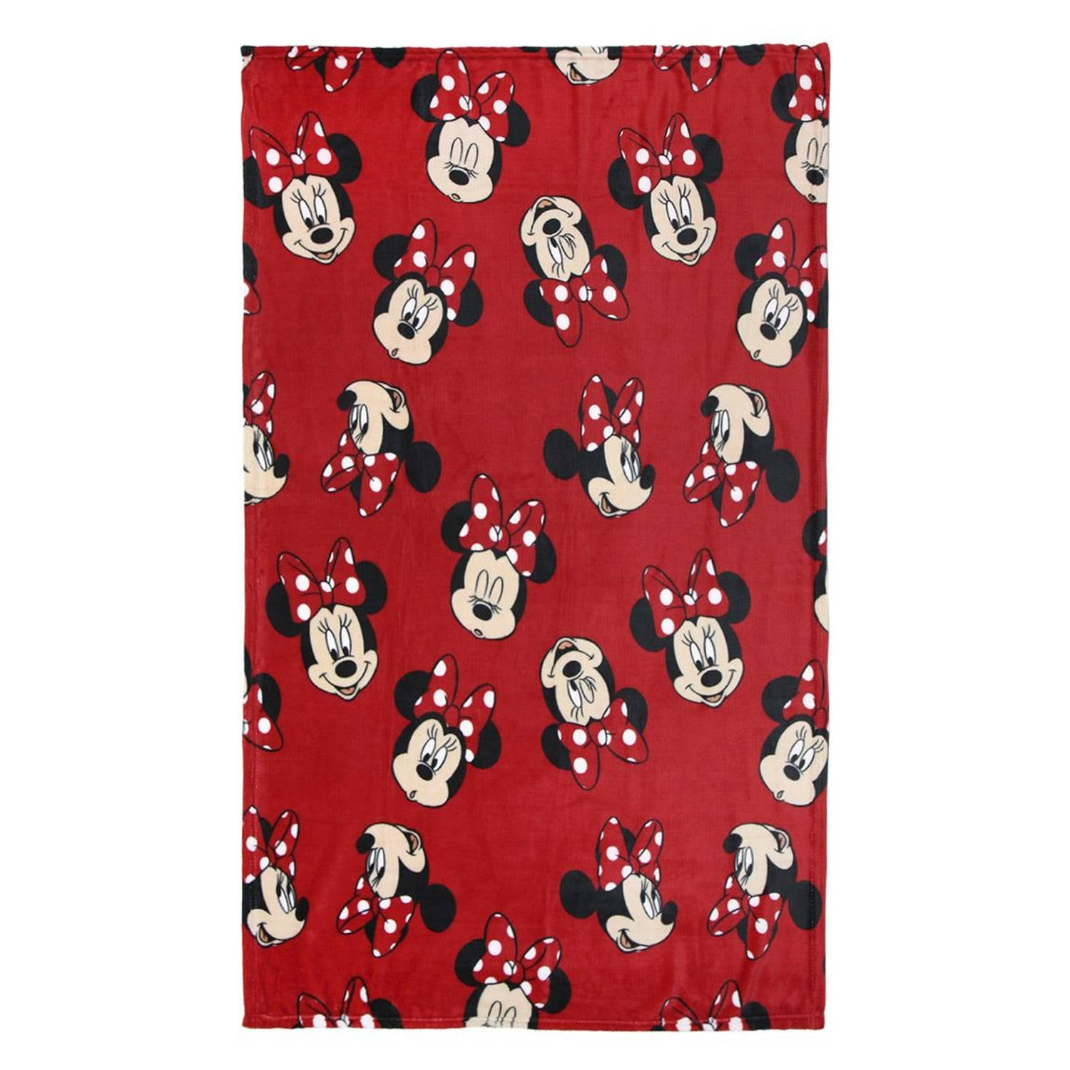 Disney fleece-deken Minnie Mouse 120 x 160 cm rood