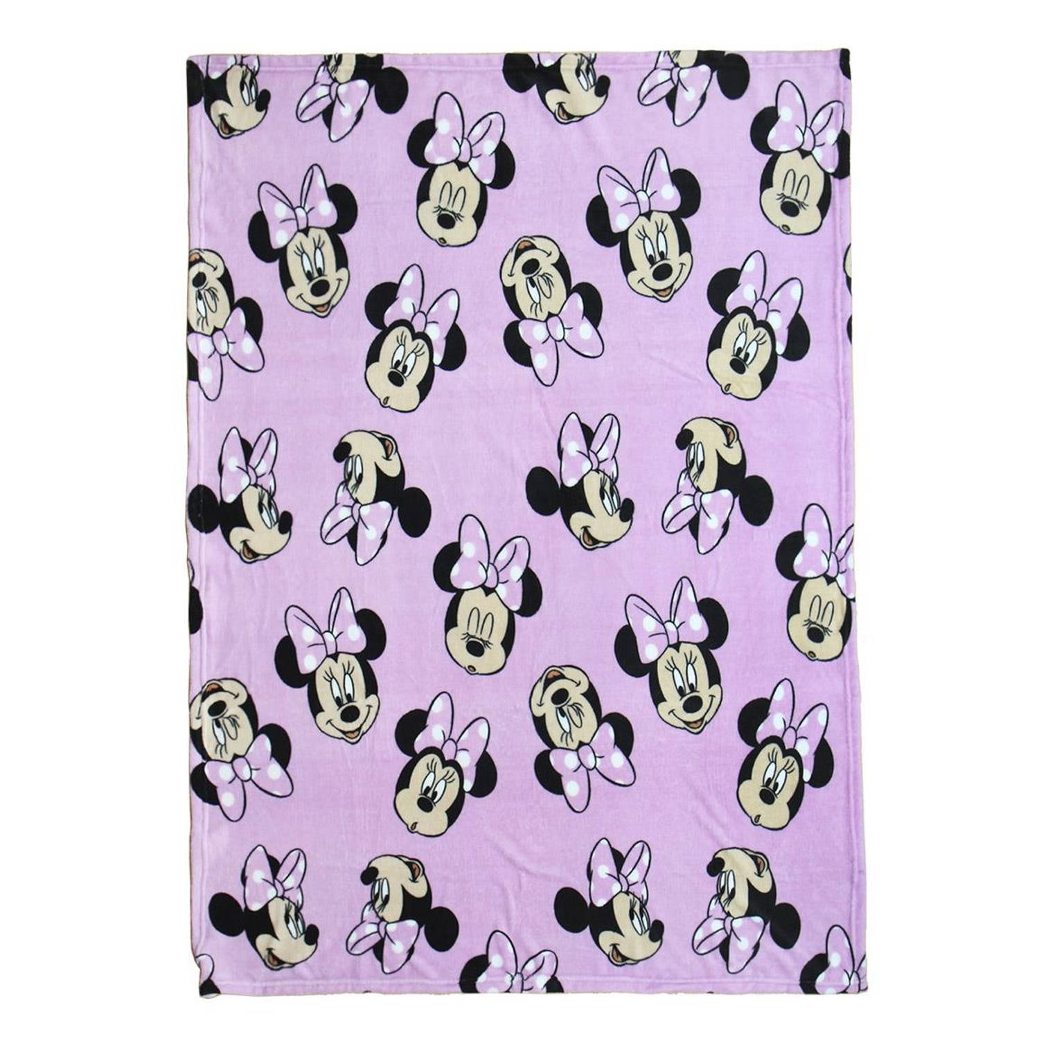 Disney fleece-deken Minnie Mouse 120 x 160 cm roze