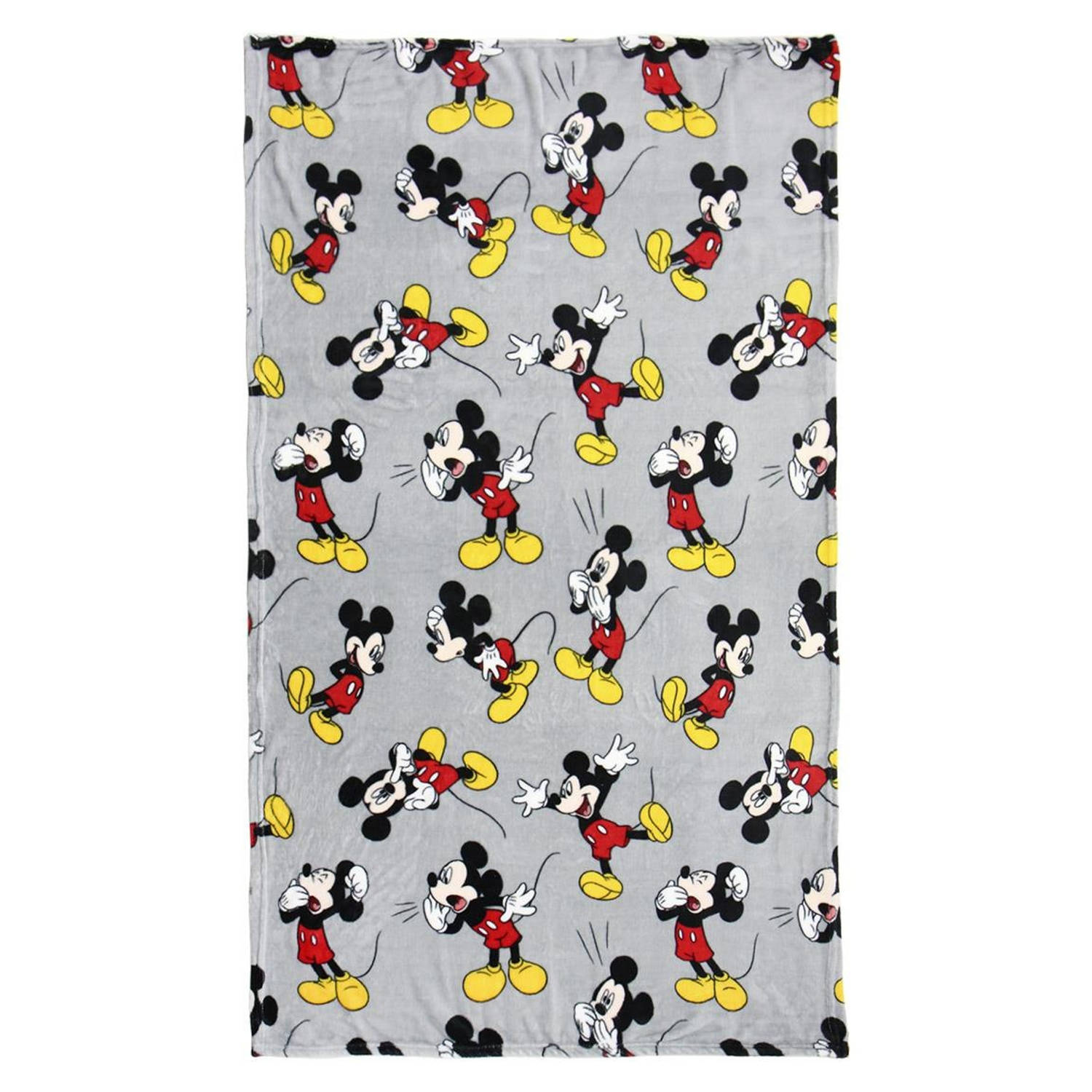 Disney fleece-deken Mickey Mouse 120 x 160 cm grijs