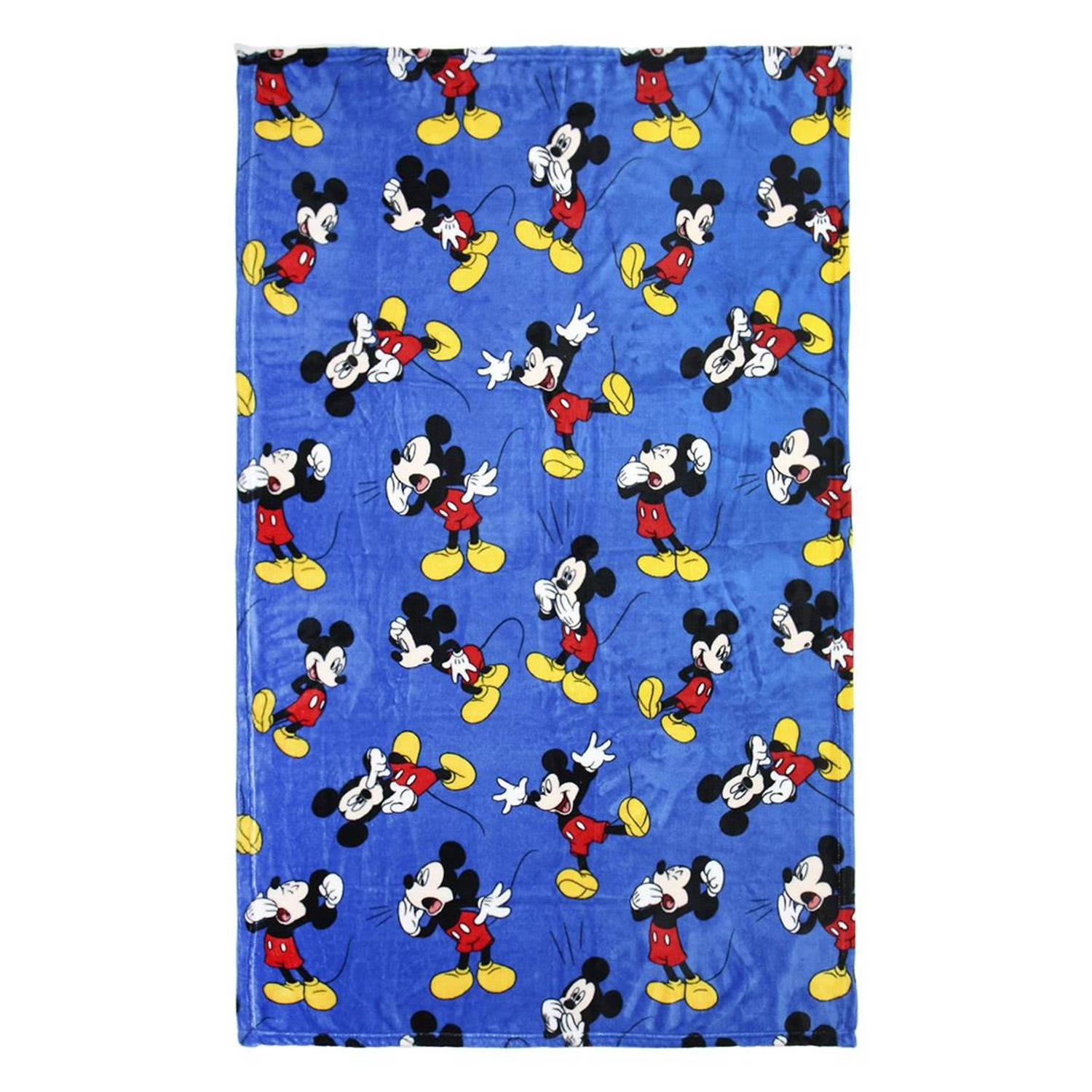 Disney fleece-deken Mickey Mouse 120 x 160 cm blauw