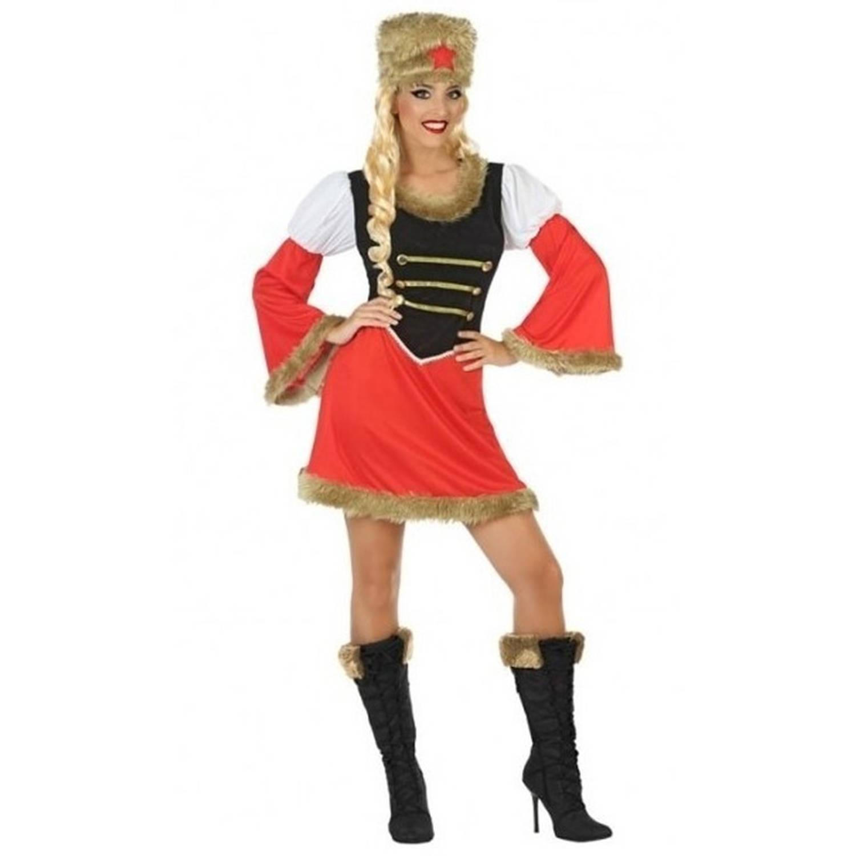 Carnavalskleding Dames Xl.Russische Kozakken Verkleed Jurk Kostuum Voor Dames Rusland Thema