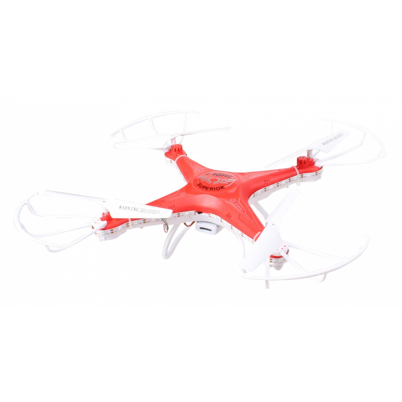 Dean toys drone Hero met camera en wifi 28x28 cm wit/rood