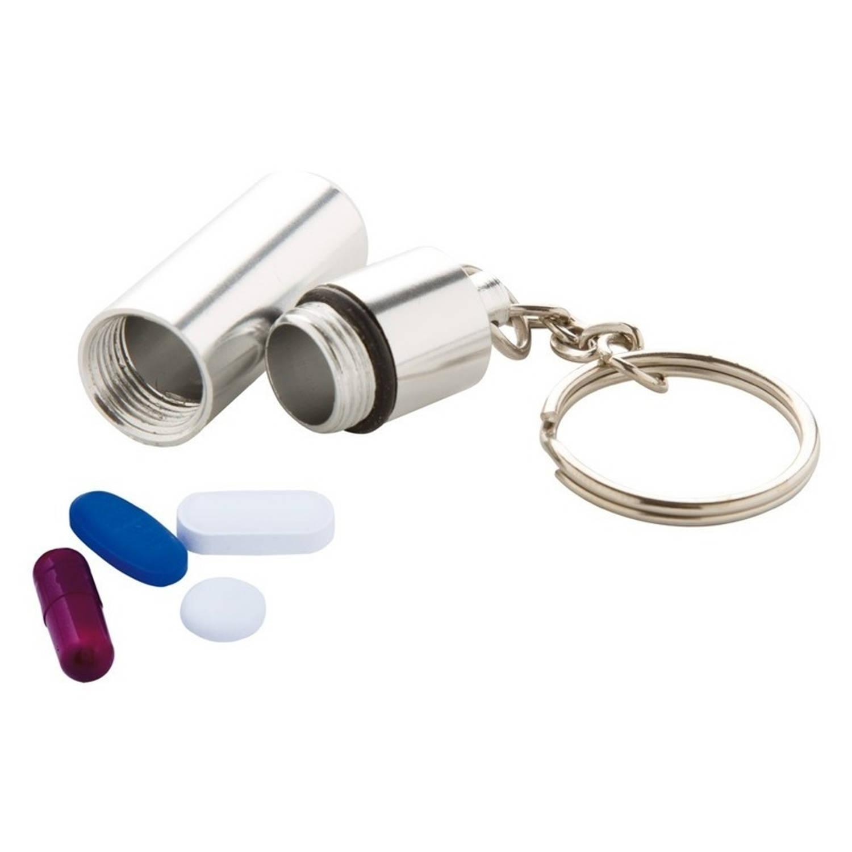 Korting Sleutelhanger Met Pillendoosje Voor Medicatie Medicijnen Meenemen