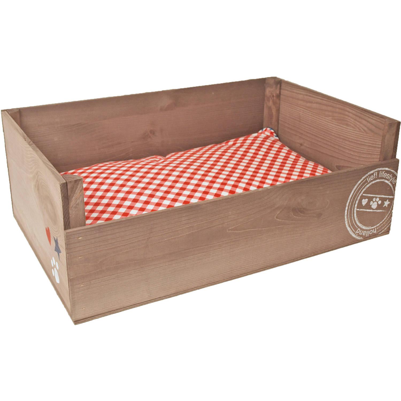 Unisex houten ligbed 70x45 cm