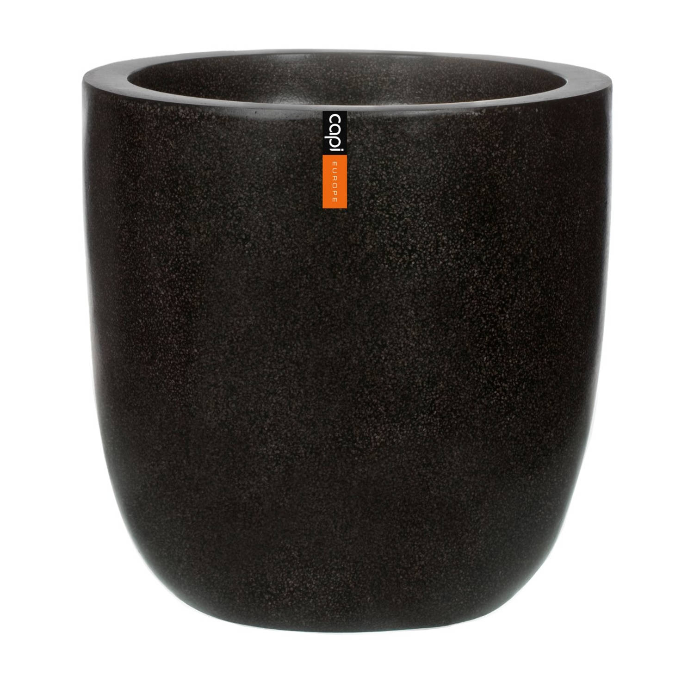 Bloempot bol zwart 52 x 54 cm Capi Lux