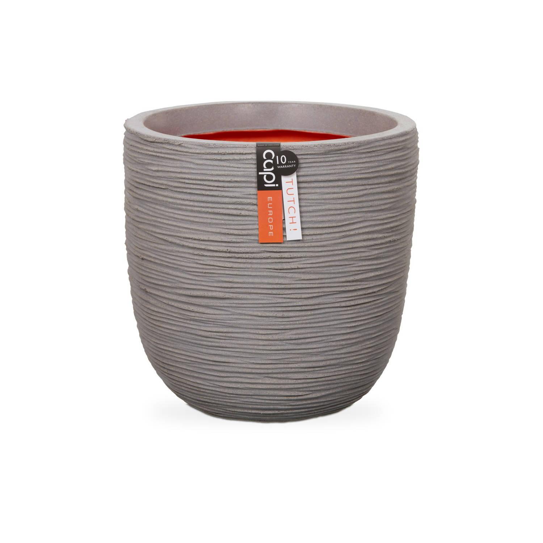 Capi Nature pot bol rib NL 42x40 - licht grijs