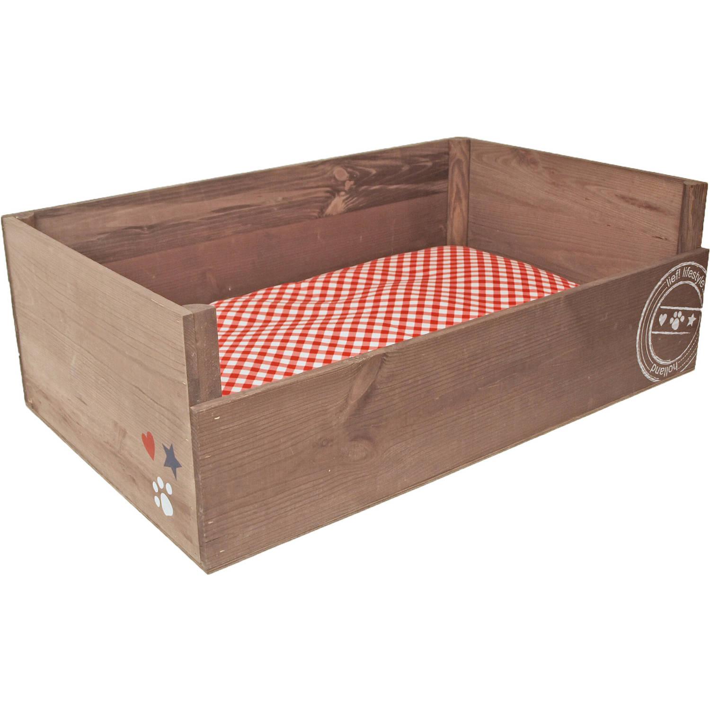 Unisex houten ligbed 90x55 cm
