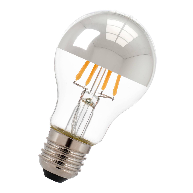 Bailey LED Kopspiegellamp Zilver E27 6W 2700K 550lm Ø6x10.5cm