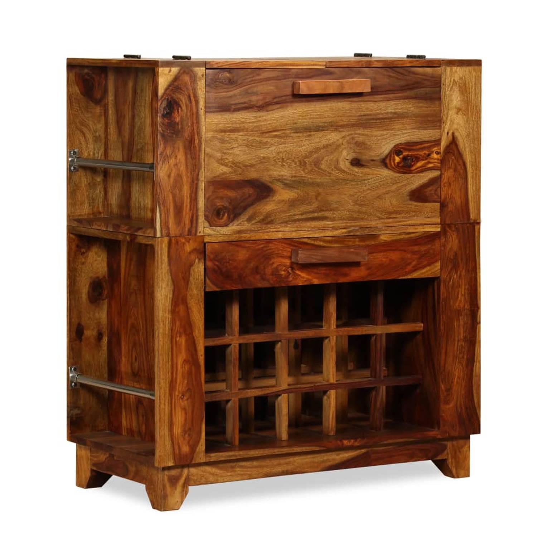 vidaXL Barkast massief sheesham hout 85x40x95 cm
