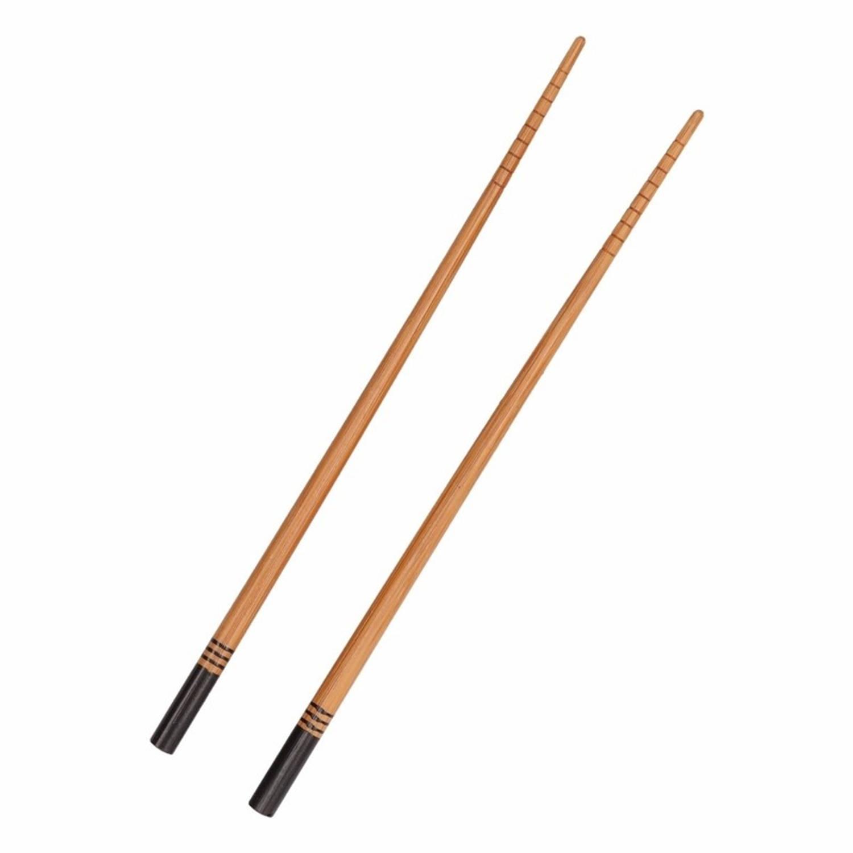 Korting Bamboe Eetstokjes Zwart 2 Stuks