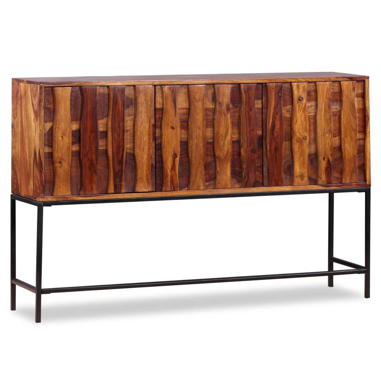 vidaXL Dressoir 120x30x80 cm massief sheesham hout