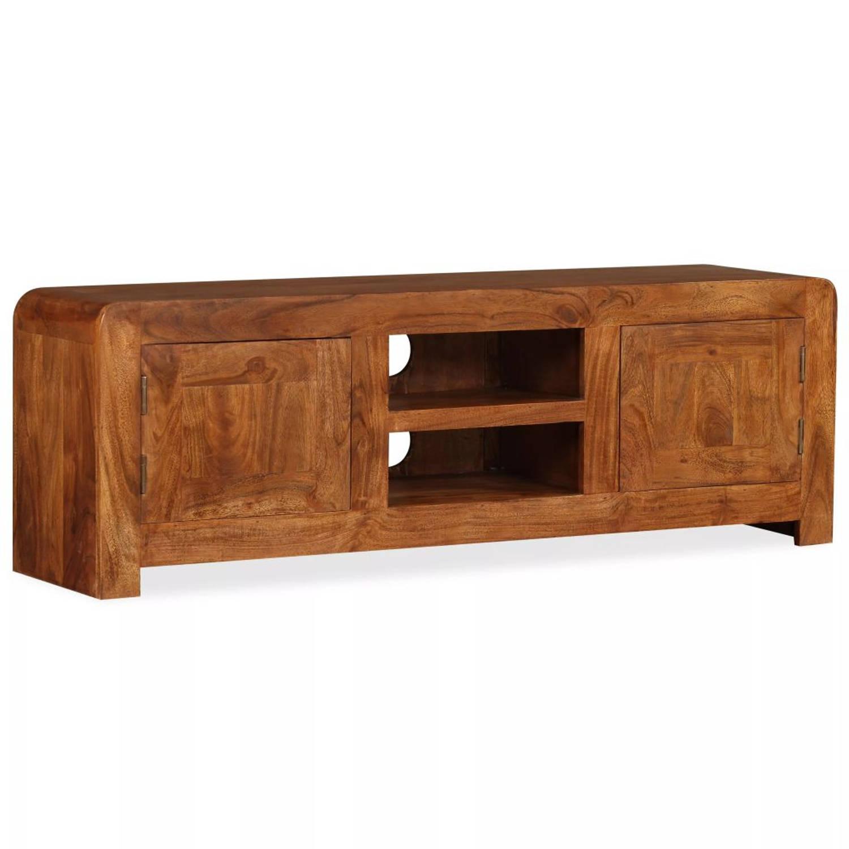 vidaXL Tv-kast 120x30x40 cm massief hout met sheesham afwerking