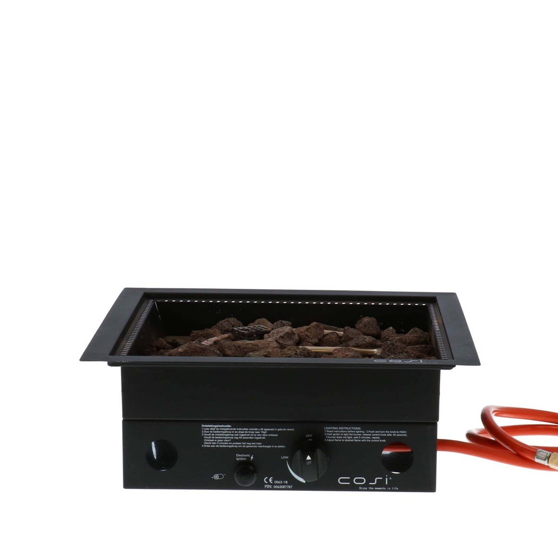 Cosi Fires Cosi inbouwbrander vierkant 40x40x16,5 cm zwart