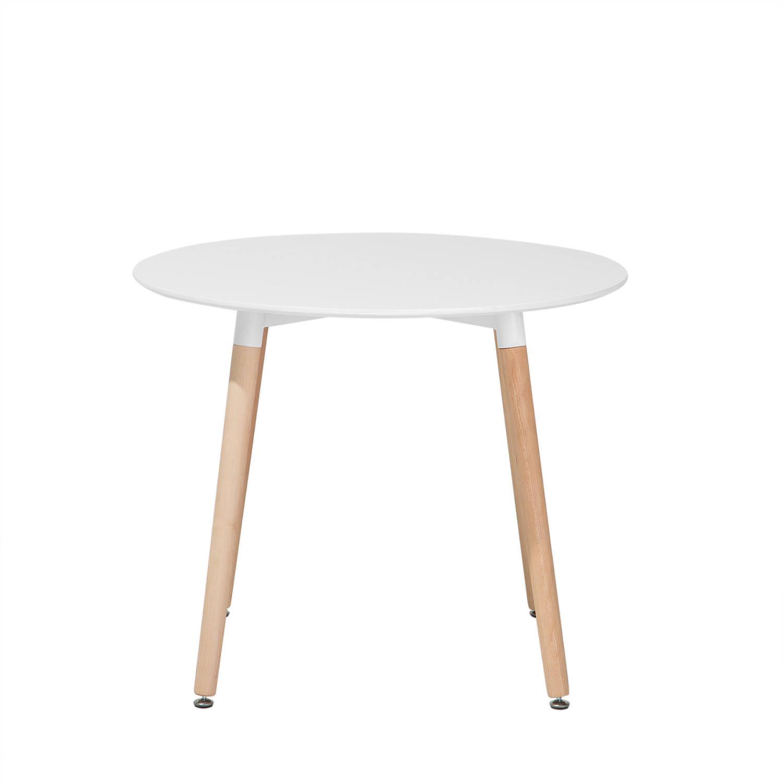 Eettafel wit 90 cm keukentafel eetkamertafel BOVIO