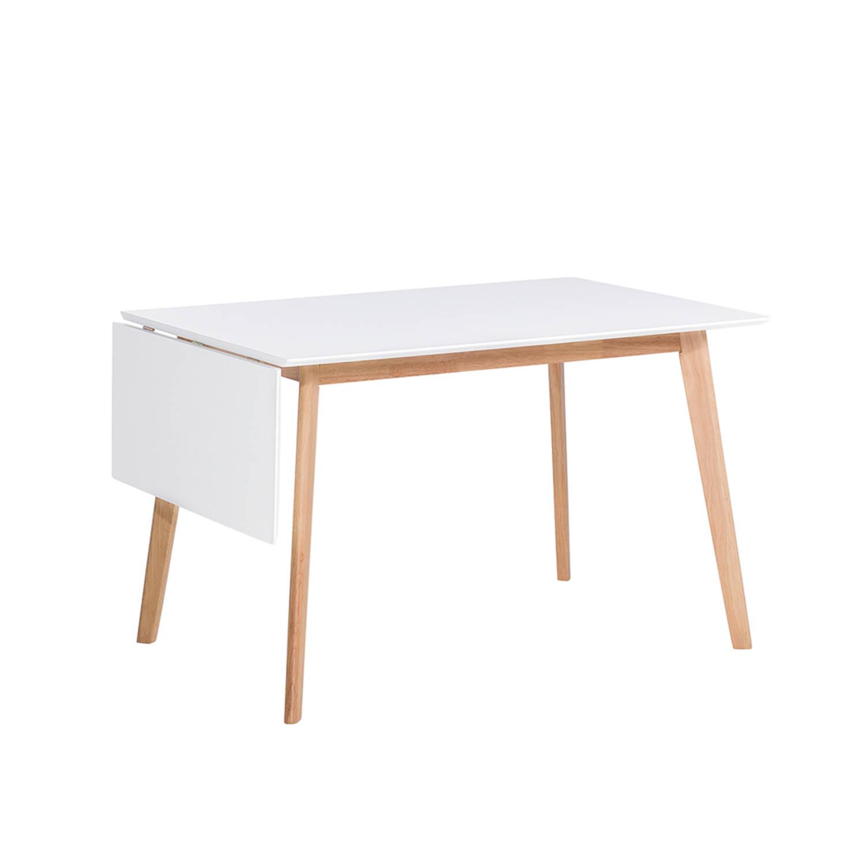 Eettafel wit keukentafel eetkamertafel 120x80 cm MEDIO