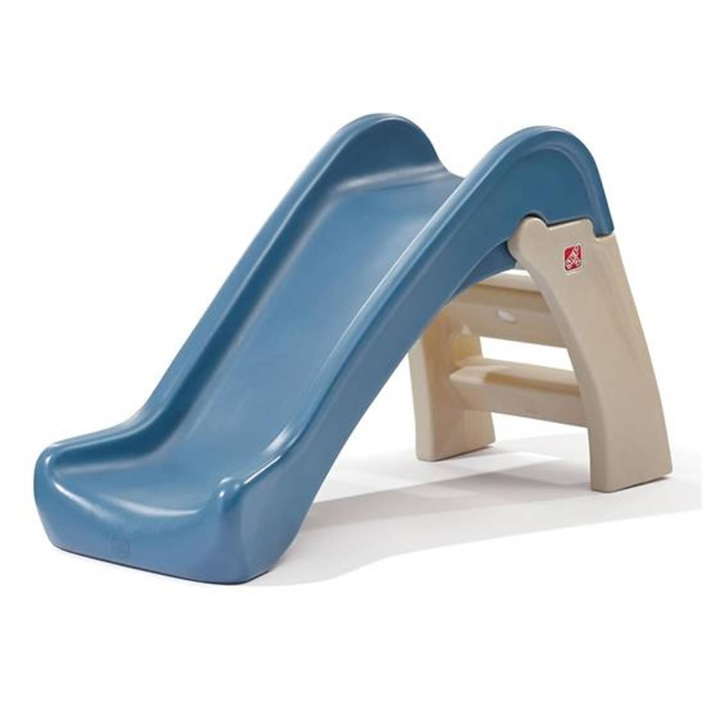 Step2 glijbaan Play And Fold 110 cm blauw/bruin