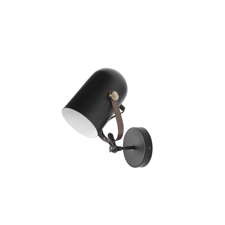 Beliani Tyria Muurlamp Zwart Metaal