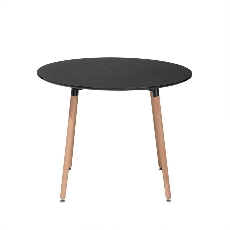 Eettafel zwart 90 cm keukentafel eetkamertafel BOVIO