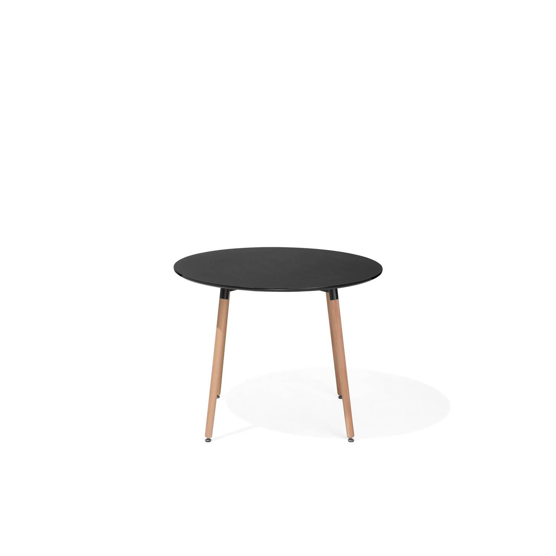 Beliani Bovio Eettafel Zwart Verlijmd hout 90 cm