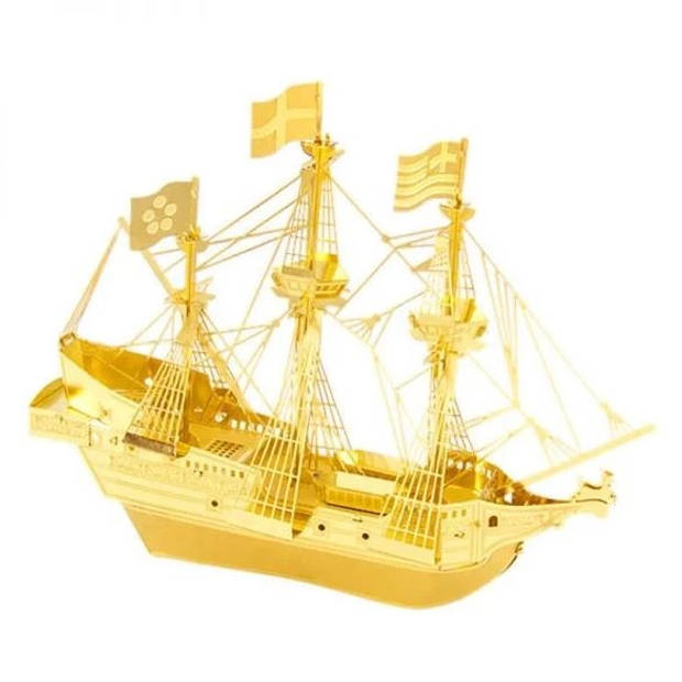 Metal Earth schip Golden Hind goud 3D modelbouwset