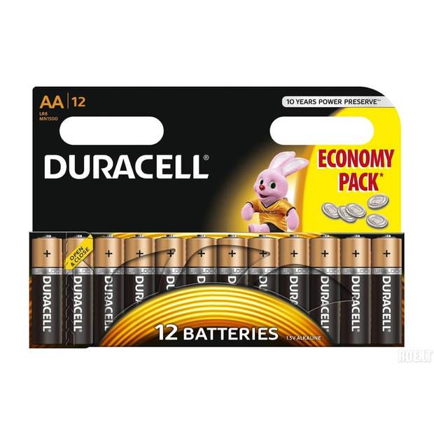 12x Duracell AA batterijen 1.5 V - alkaline - LR6 - batterijen / accu