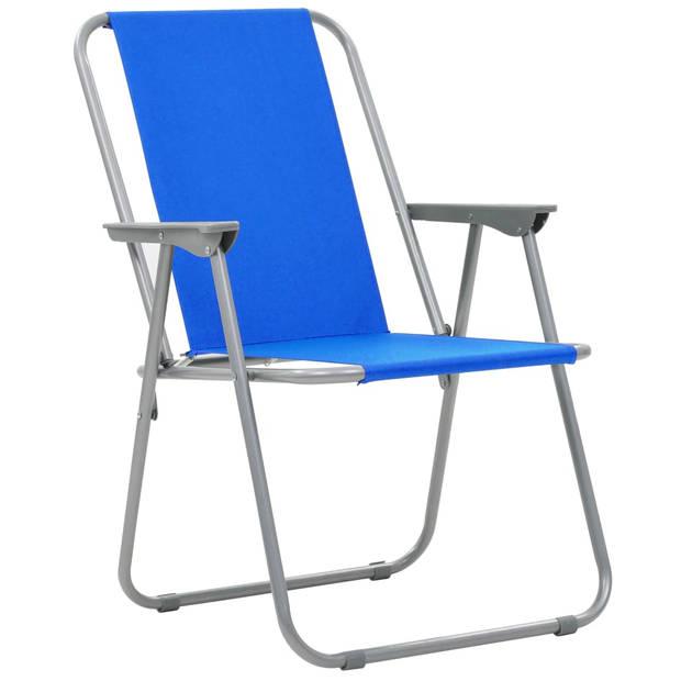 vidaXL Kampeerstoelen inklapbaar 52x59x80 cm blauw 2 st