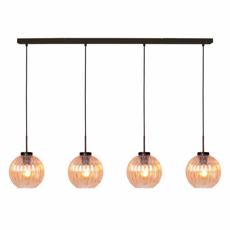 Freelight Hanglamp Zucca 4 lichts recht Amber