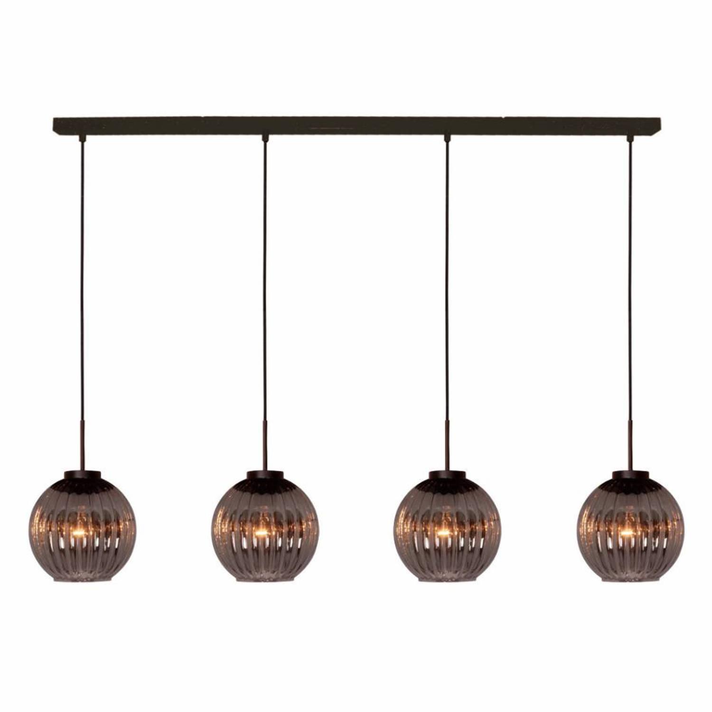 Freelight Hanglamp Zucca 4 lichts recht Rook