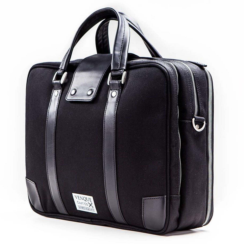Venque Hamptons Laptoptas Zwart Black Edition