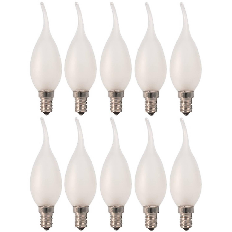 10 stuks - Calex Tip Kaarslamp E14 230V 10W Mat 50lm
