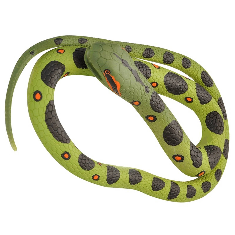 Afbeelding van Rubberen speelgoed anaconda slang mega 183 cm - speelgoed dieren nepslangen