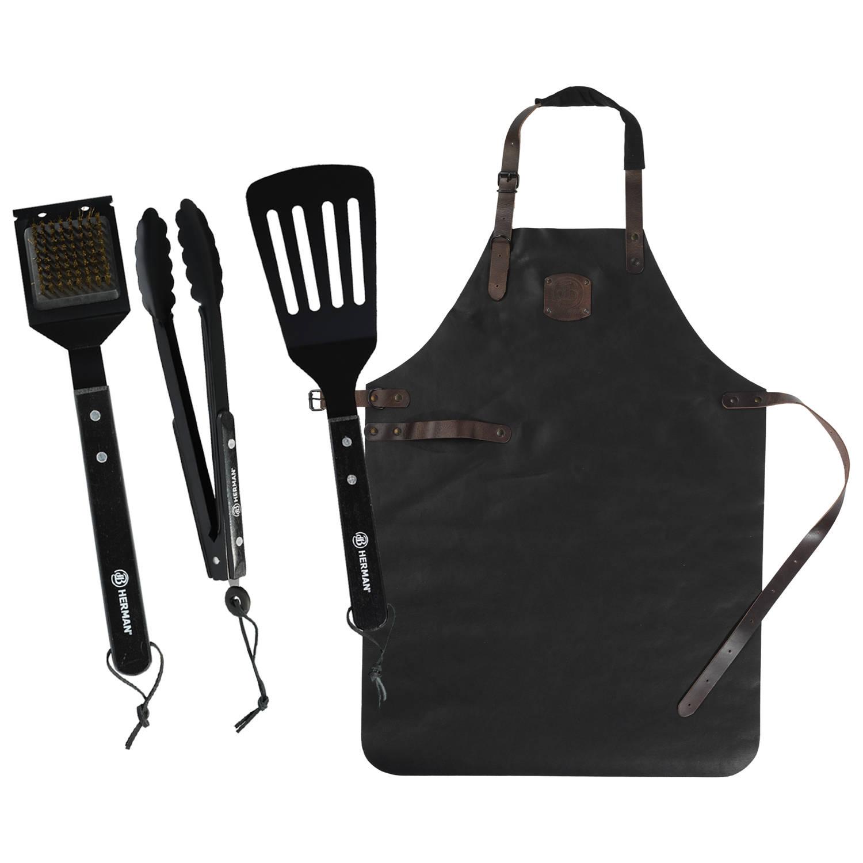 Herman den Blijker Schort + BBQ Tools