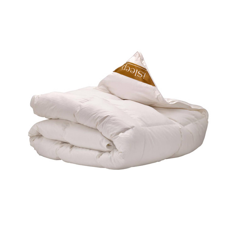 iSleep Goud ganzendons enkel dekbed - warmteklasse 2 - 2-Persoons 200x220 cm