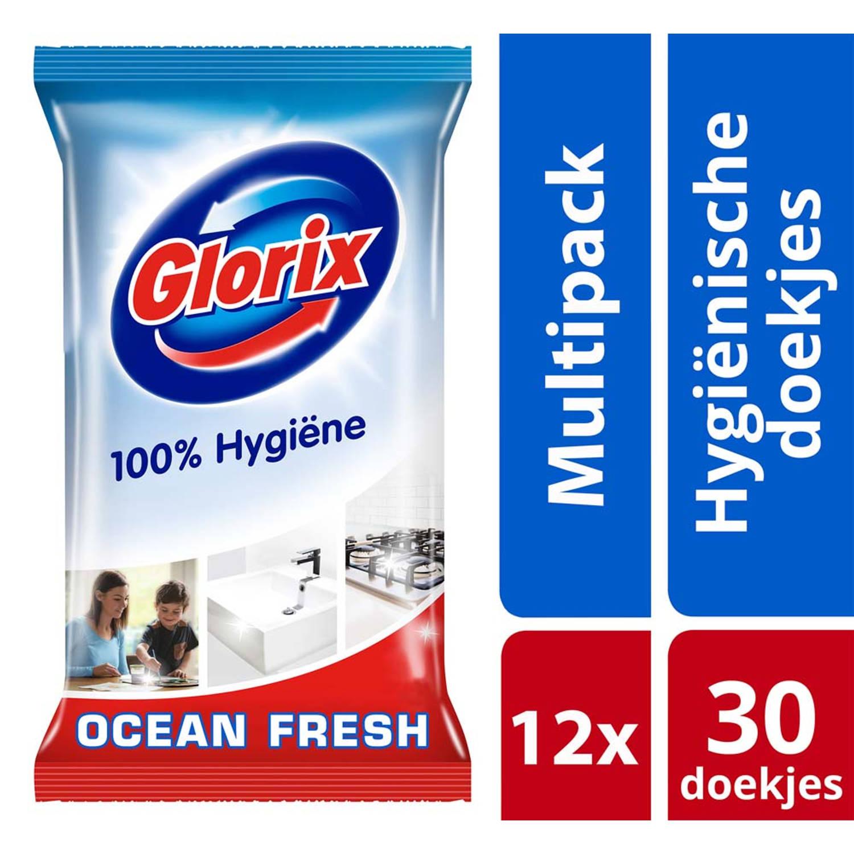 Image of GLORIX HYG DOEKJE NORMAAL 30ST 12X
