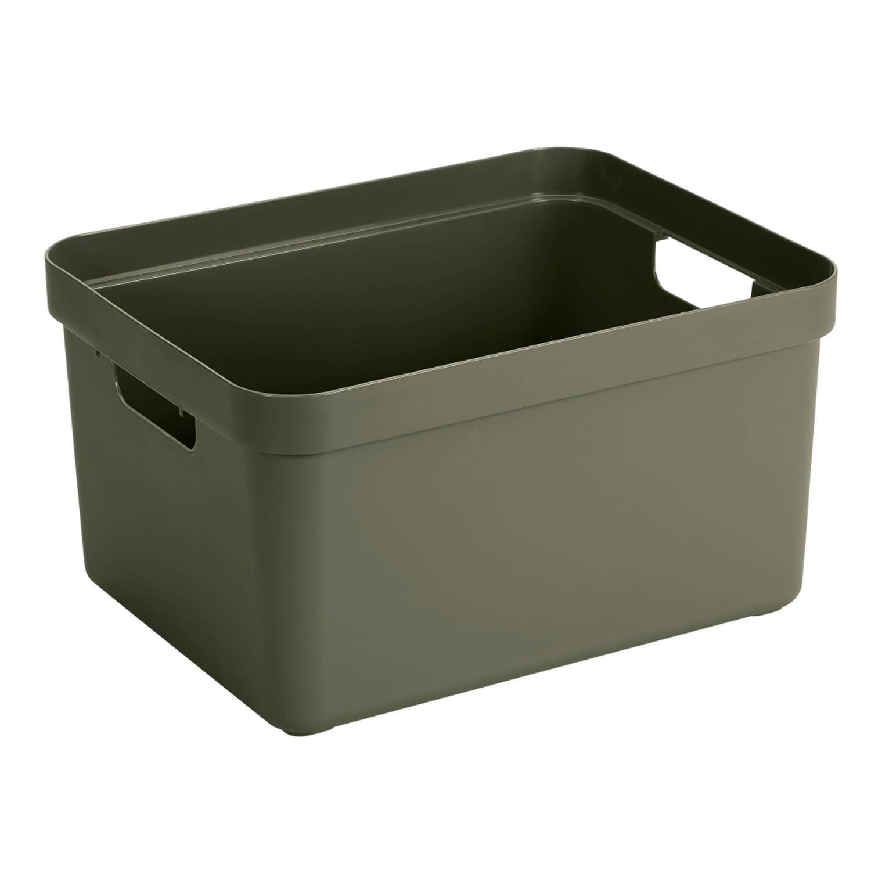 Sigma home Opbergbox - 32L - donkergroen