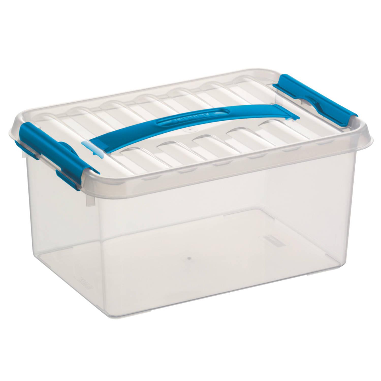 Q-line Opbergbox - 6L - transp/blauw